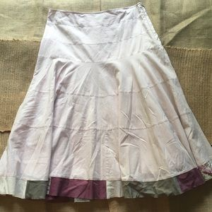 Anthropologie Fei Ruffle Floral Hem Skirt Sz 6